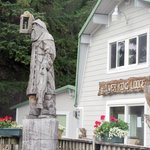 Amazing Wood Carvings, Silver King Lodge, Ketchikan, Alaska
