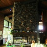 The spectacular fireplace at Heritage Guest House