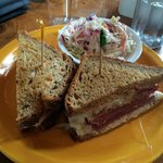 My Reuben sandwich. This is a big fat juicy sandwich that hit the spot just right!