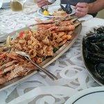Grilled shrimps at Fantasia