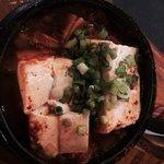Spicy tofu kimchi hot pot