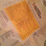 A very interesting menu!