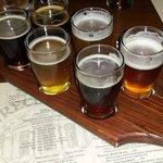 Beer Flight with the Menu