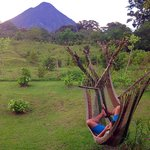 Hammocks for some volcano viewing