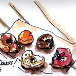 Whoos donuts are good tasting a beautiful to sketch!
