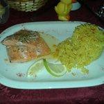Plato del chef Trucha con arroz