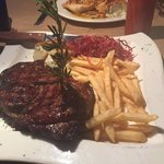 Ribeye Steak with fries