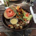 Great veggie burger plate