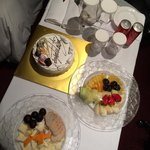 Cake delivered to our room