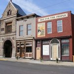 The Depot District has many interesting old buildings like the Firehouse BBQ & Blues Club