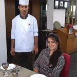 yummy food with chef
