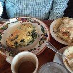 Fluffy Florentine omelet.