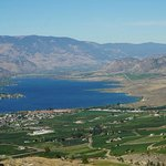 View of Anarchist Lookout over Osoyoos lake.