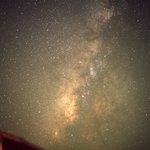 当ホテル中庭より撮影した天の川銀河