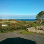 View of the beach from our Truro caravan