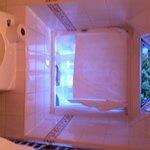 Hand towel needed to cover bathroom window