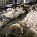 The graves of a royal couple of Navarre