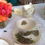Beautiful fresh flowers adoring each table with vintage china