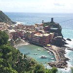 View walking into Vernazza