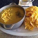 """Plantain Soup with """"arañitas"""""""