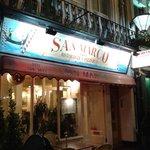 Fachada do San Marco Restaurante e Pizzaria em Londres (Paddington)