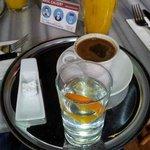 Colazione e succo d'arancia