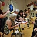 Celebrating at Christopher' Restaurant