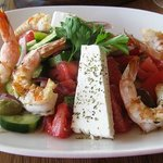 Greek Salad with Shrimp