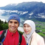 Me and my wife at Harder Kulm