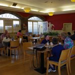 Cosy & elegant interior decoration of the Cafe