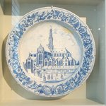 St Bravo's church on Delft plate