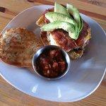 Huevos Rancheros Breakfast Burger #breakfastspecial