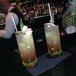 Passoa & Absolute Raspberry vodka cocktail