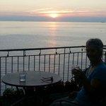 Sunset on Casmona's terrace.
