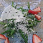 ensalada de judia y parmesano