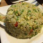 fried rice with jasmin flowers