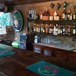 The well-stocked bar!