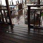 rain shuts down open-air dining