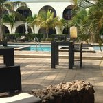 View from Bar to Pool