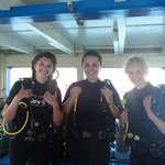 Getting ready for our first dive