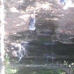 Waterfall on hiking trail