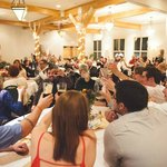 Large banquet hall, comfortable fit about 120 people and the buffet.