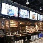 Bar seating and TVs