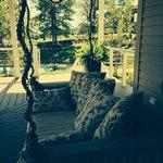 Main House porch swing