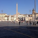 Piazza del Popolo 8:am, just outside Hotel front door