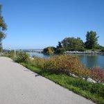 bike path behind the Lodge