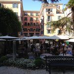 Hotel from outdoor breakfast area