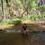 Chillin' in Bright Angel Creek @ Phantom Ranch