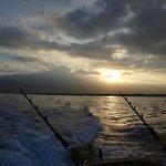 Sunrise over the fishing lines KONA