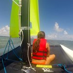 sailing on Biscayne Bay with view of Miami